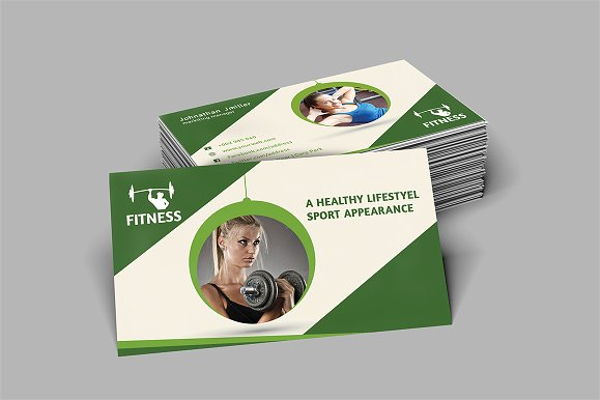 Ultimate Fitness Business Card Design