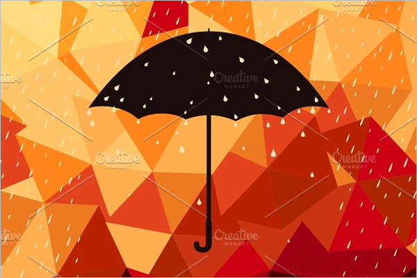 Umbrella Seamless Pattern