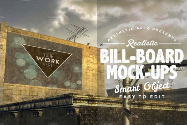 Unique Billboard Mockup psd