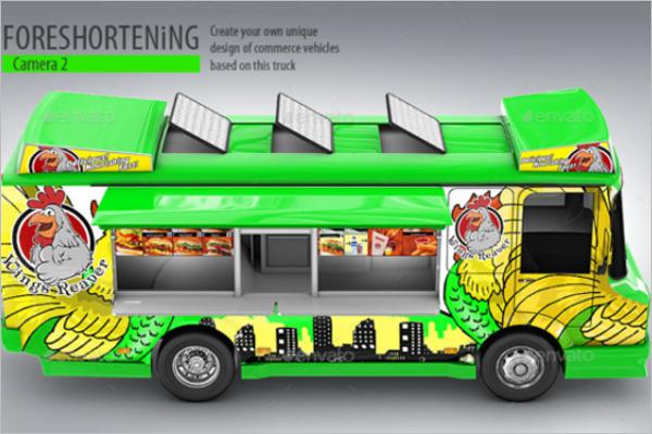 Unique Food Truck Mockup