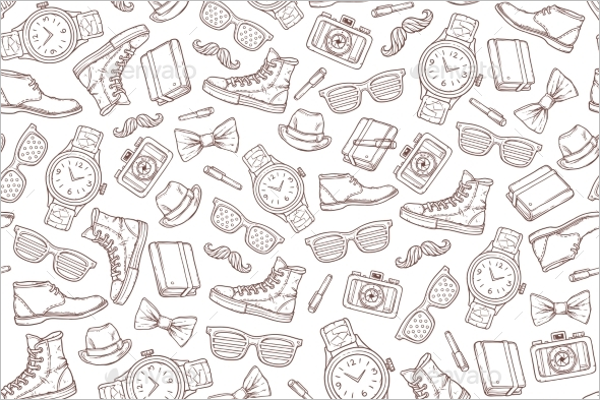 Unique Hipster Seamless Pattern