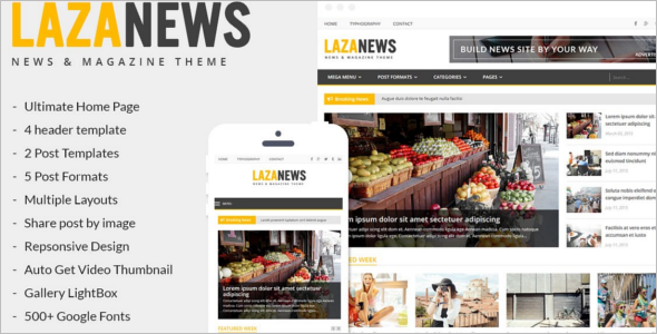 Unique News WordPress Theme