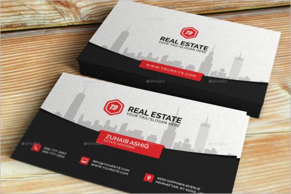 Unique Real Estate Business Card Design