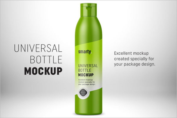 Universal Plastic Bottle Mockup