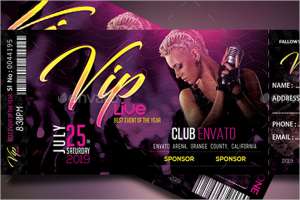 VIP Event Ticket Template