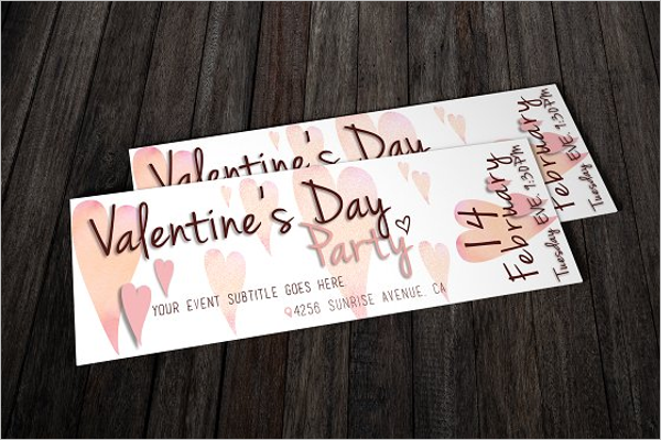 Valentines Day Party Ticket Template