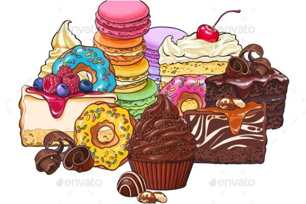 Various Sketch Cake Template