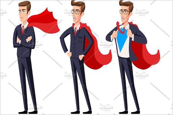 Vector Business Super Men Template
