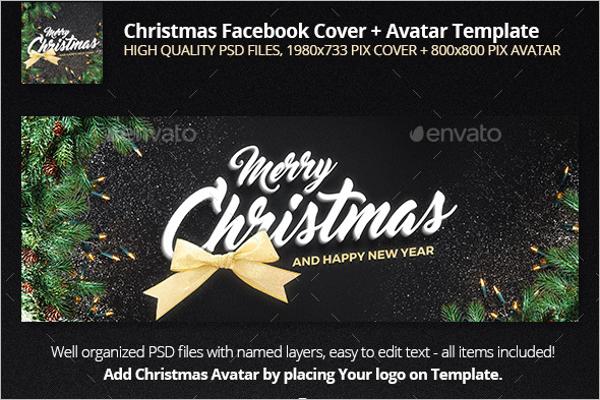 Vector Christmas Facebook Cover Template