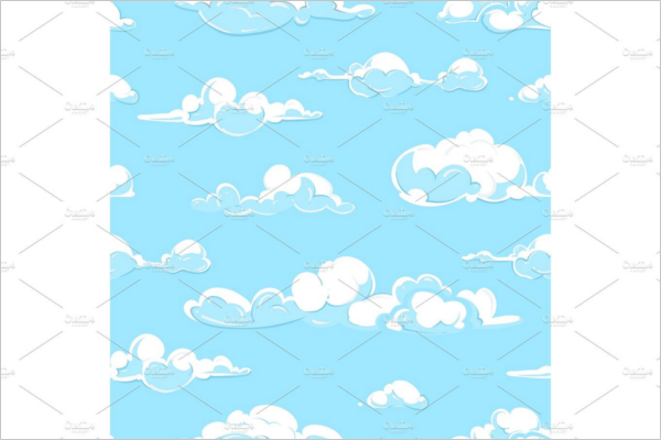Vector Clouds Weather Seamless Pattern