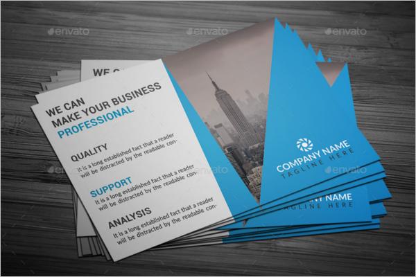 Vector Construction Business Postcard Design