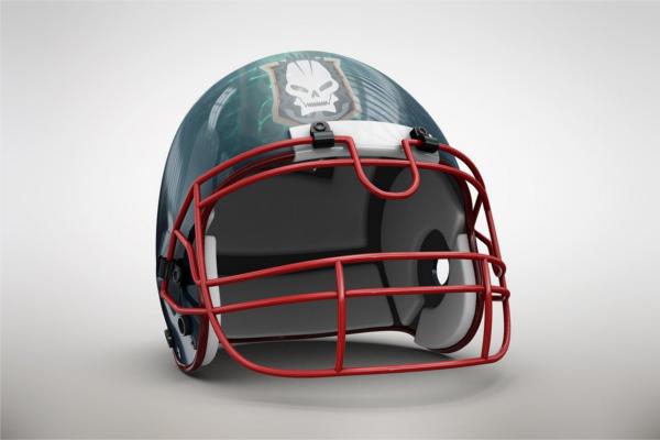 Vector Football Helmet MockUp