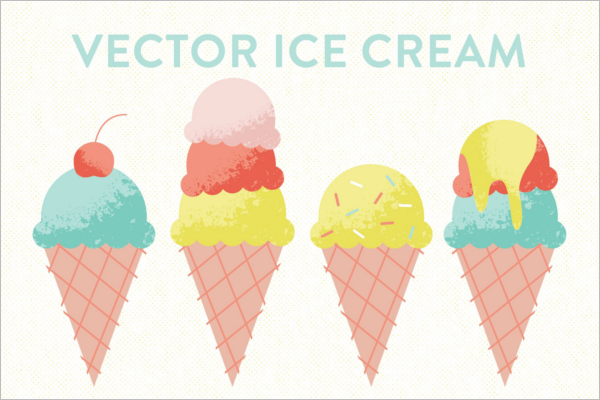 Vector Ice Cream Cone Template