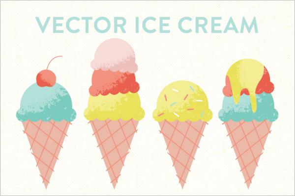 Vector Ice Cream Cone Template
