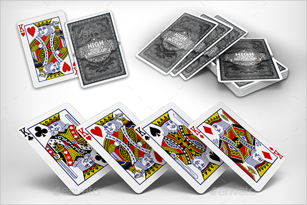 Vector Playing Cards Mock up