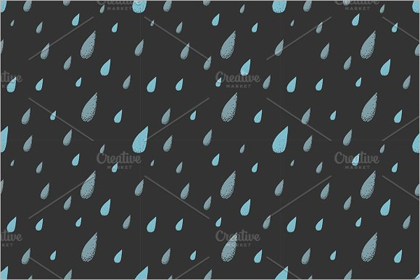 Vector Rain Drops Pattern