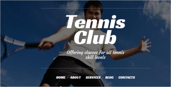Vector Tennis WordPress Template