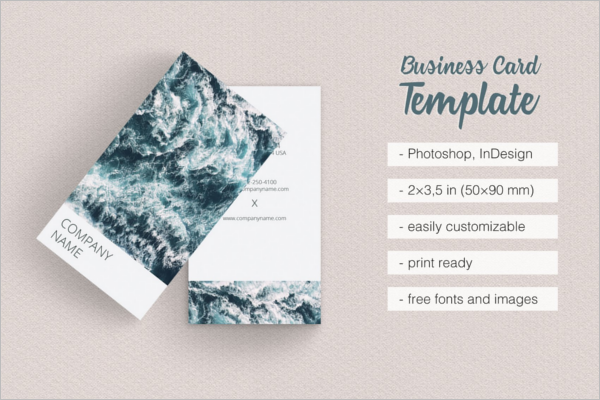 Vertical Fashion Business Card