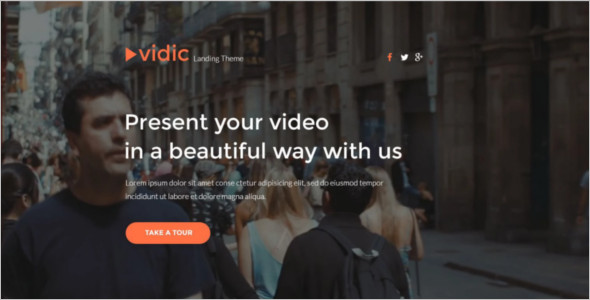 Video Gallery Landing Page Template