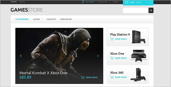 Video Games PrestaShop Theme