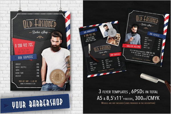 Vintage Barber Shop Flyer Design