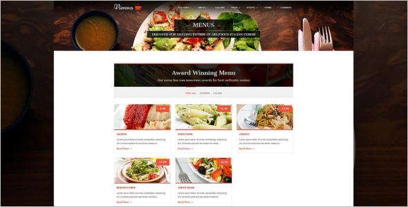 Vintage Catering WordPress Template