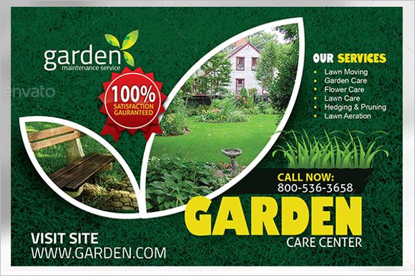 Vintage Garden Postcard Template