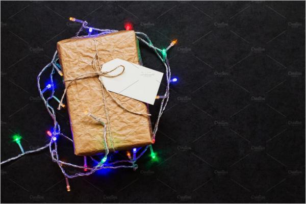 Vintage Gift Box With Christmas Garland Design