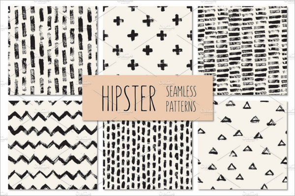 Vintage Hipster Seamless Patterns