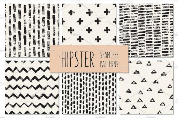 Vintage Hipster Seamless Patterns