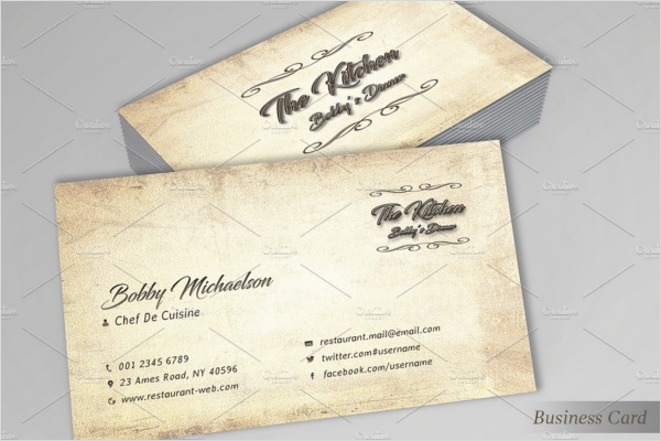 Vintage Hotel Business Card Template