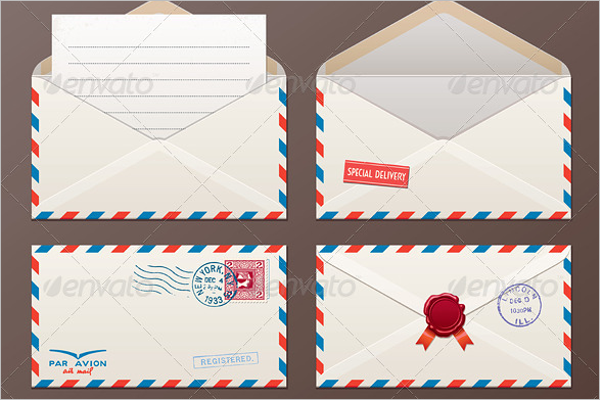 Vintage Mail Envelope Template