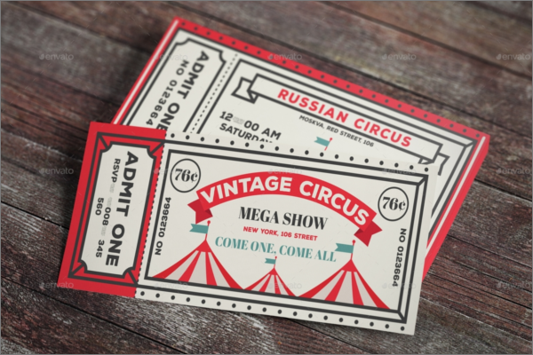Vintage Ticket Mockup Template