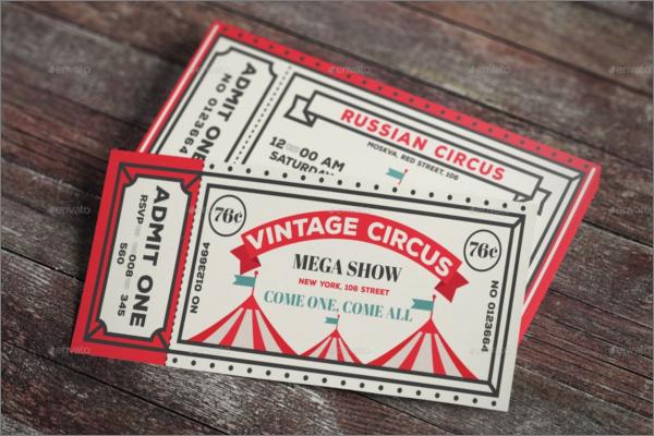 Vintage Ticket Mockup Template