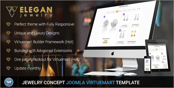 Virtuemart Responsive Jewelry Template