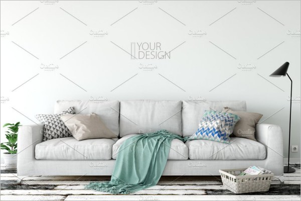 Wall Mockup Display Product