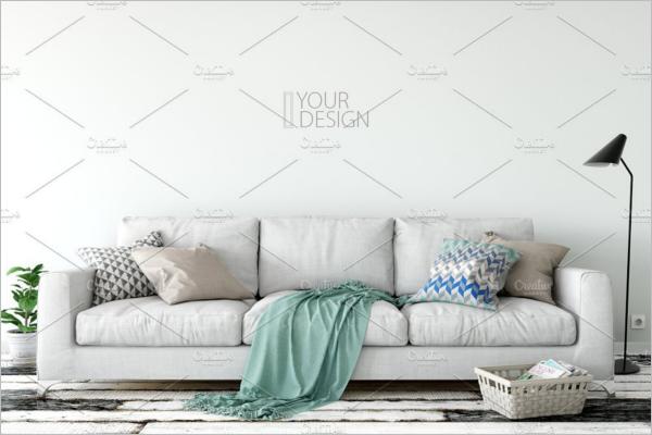 Wall Mockup Display Product