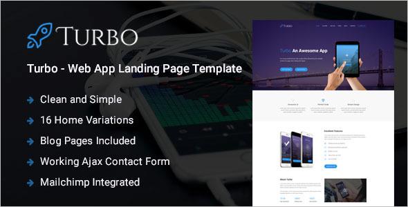 Web App HTML5 Landing Page Template