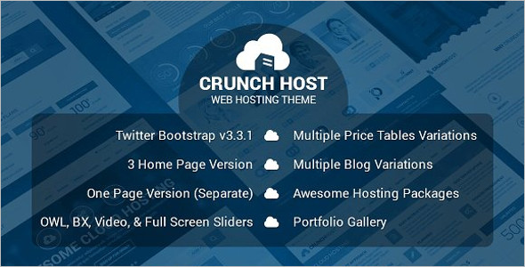 Web Hosting Bootstrap Template