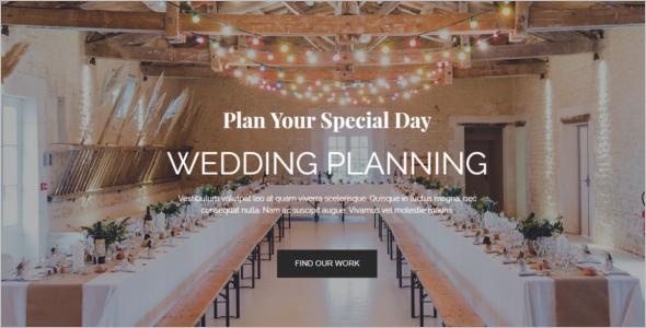 Wedding Event Management WordPress Theme