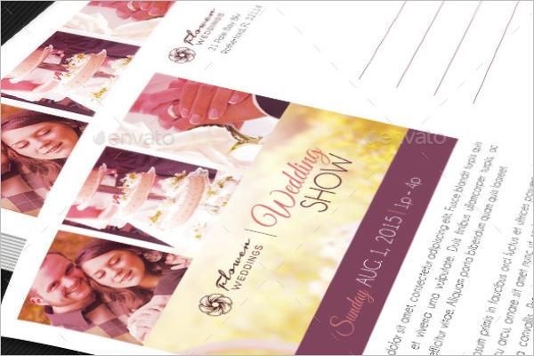 WeddingPhotography Postcard Template