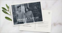 30+ Wedding Postcard Templates