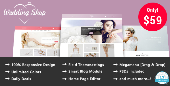 Wedding Prestashop 1.7 Theme