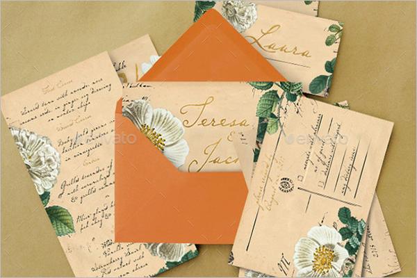 Wedding Stock Postcard Design
