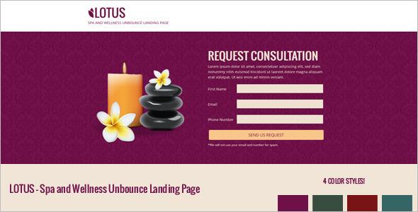 Wellness Center Landing Page Template
