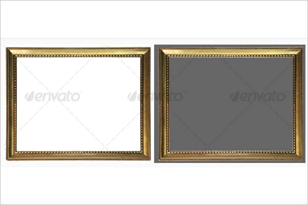 White & Black Background Antique Frame Template