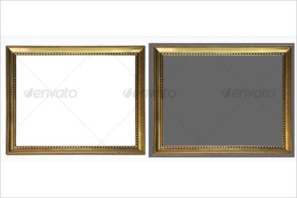 White & Black Background Antique Frame Template