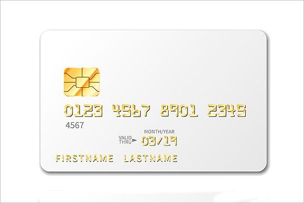 White Blank Credit Card Mockup