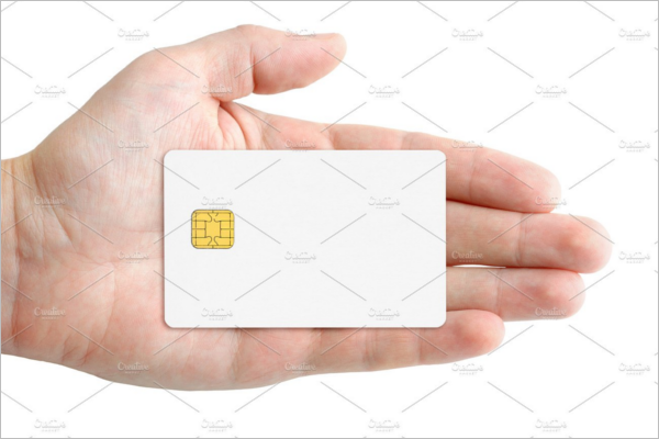 White Credit Card Mockup Template