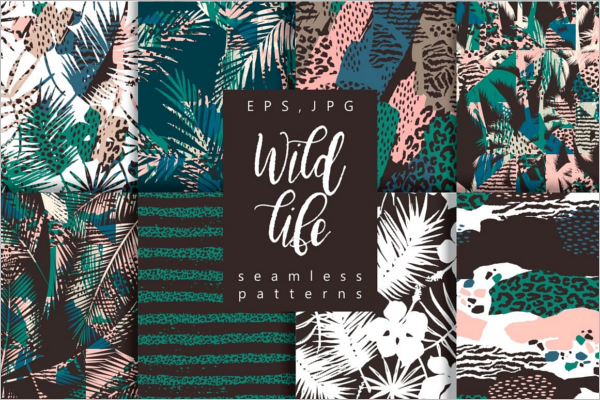 Wild Life seamless patterns